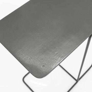 Masuta de cafea dreptunghiulara din metal Jean 46x31x62 cm gri