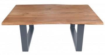 Masuta de cafea dreptunghiulara din salcam Tables&Benches 120x80x45 cm maro