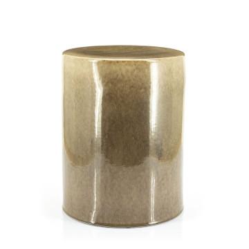 Masuta de cafea rotunda din ceramica Dainty 34x45 cm taupe