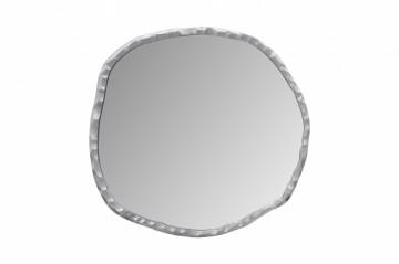 Oglindă cu rama din aluminiu argintie Duke 75x75x3 cm