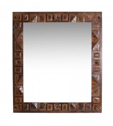 Oglinda dreptunghiulara cu rama din lemn reciclat ALMIRAH, 68 x 8 x 79 cm