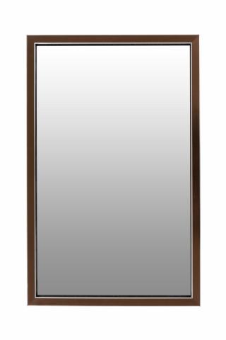 Oglinda dreptunghiulara cu rama din polistiren bronz/neagra Cliff, 56cm (L) x 36cm (W) x 1.6cm (H )