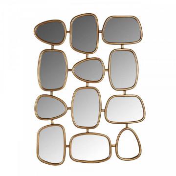Oglinda dreptunghiulara formata din 12 oglinzi Jeff, 110 x 80 x 3 cm