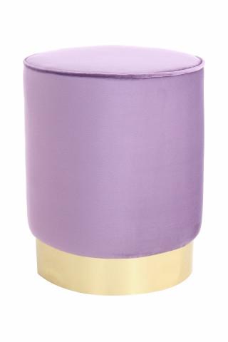 Puf/ Taburet din catifea Nena violet