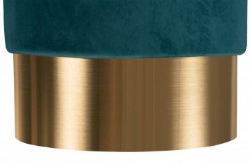 Puf/ Taburet tapitat Nano verde inchis ignifug