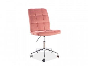 Scaun de birou din catifea Q20 roz