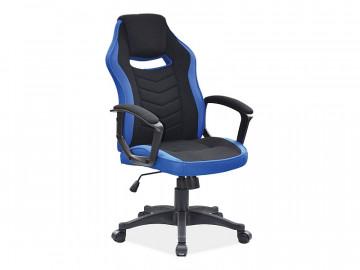Scaun de birou tapitat Camaro negru/albastru