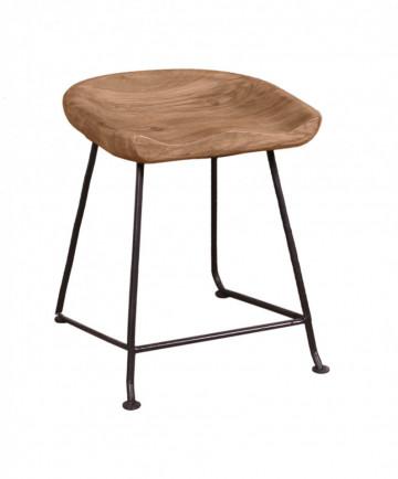 Scaun din lemn Natural Edge maro/negru