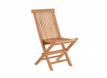 Scaun pentru gradinadin lemn de tec pliabil maro