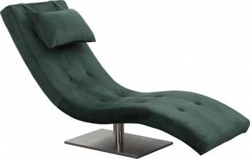Scaun sezlong tapițat cu pernă inclusă Relax verde