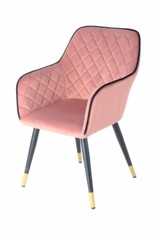 Scaun tapitat Amino roz/negru