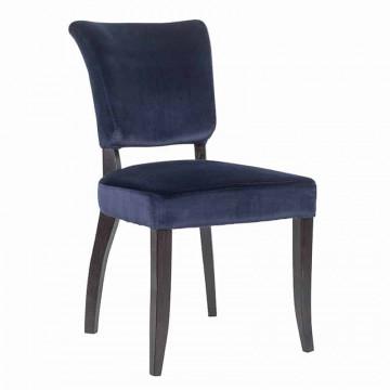 Scaun tapitat Roxy albastru