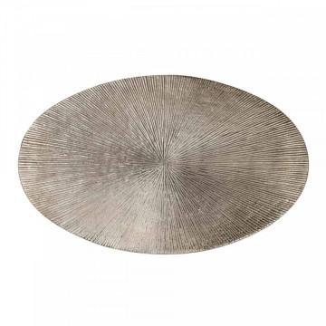 Set 2 masute de cafea ovale din metal Jude 50x53x35 cm maro