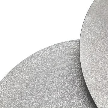 Set 2 masute de cafea rotunde din metal Setto 49x49x52 cm gri