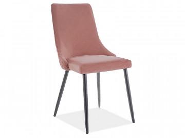 Set 2 scaune din catifea Piano roz mat