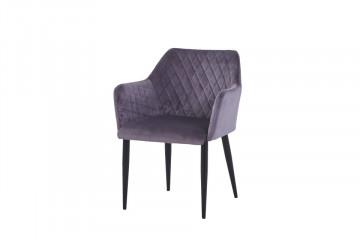 Set 2 scaune din catifea Sit&Chairs gri inchis