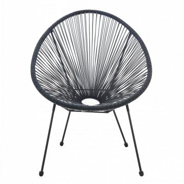 Set 2 scaune pentru gradina negre