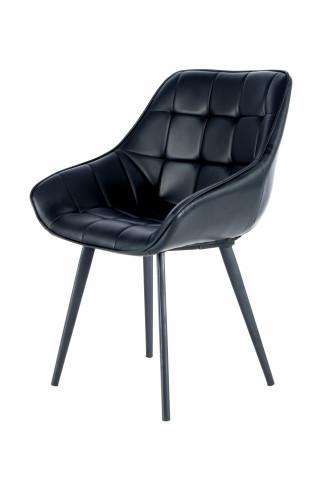 Set 2 scaune tapitate Demi negre