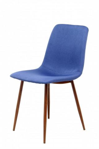 Set 2 scaune tapitate Maggie albastre