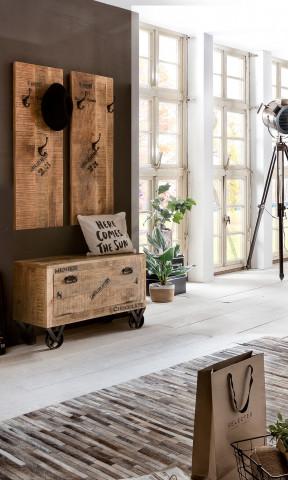 Set 3 piese mobilier pentru hol din lemn de mango Rustic
