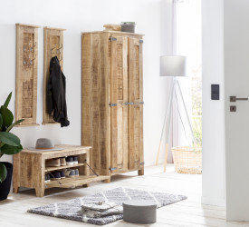 Set 4 piese mobilier pentru hol din lemn masiv Frigo