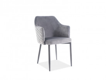 Set 4 scaune din catifea Astor gri