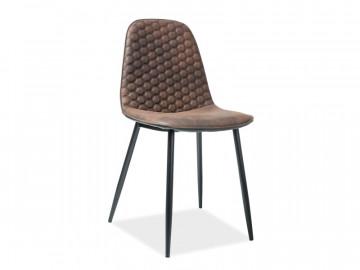 Set 4 scaune din piele ecologica Teo maro