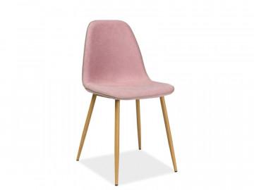 Set 4 scaune tapitate Dual roz