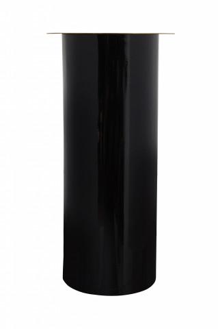 Suport lumanare din fier negru / auriu 20x20x40 cm