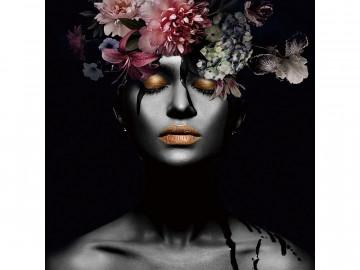 Tablou din sticla Flower Woman III 80 x 80 cm