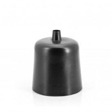 Vaza decorativa din fier Dotty neagra 22X25 cm