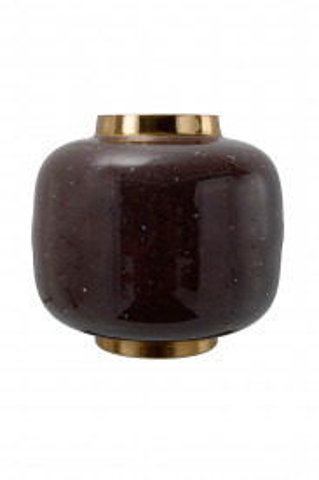 Vaza din fier Art Deco, maro