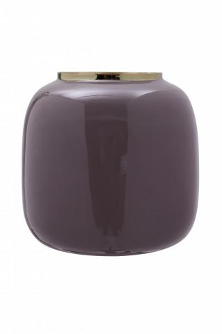 Vaza din fier Art Deco, violet inchis / auriu