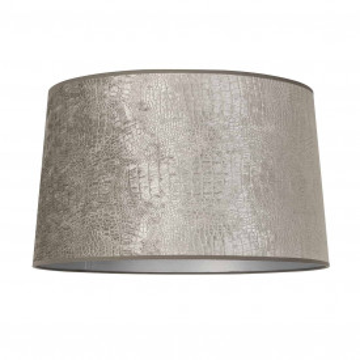 ABAJUR cilindric din polyester Marly argintiu, diametru 40 cm