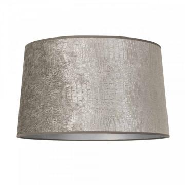 ABAJUR cilindric din polyester Marly argintiu, diametru 50 cm