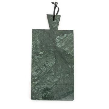 Blat pentru servire dreptunghiular din marmura CB1, verde, 20x43 cm