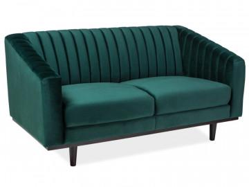 Canapea din catifea Asprey verde, 2 locuri