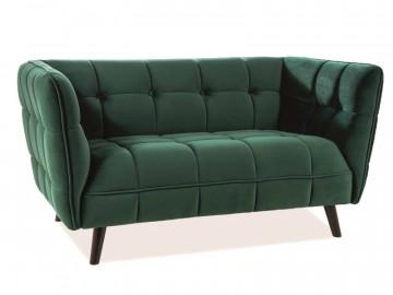 Canapea din catifea Castello verde, 2 locuri