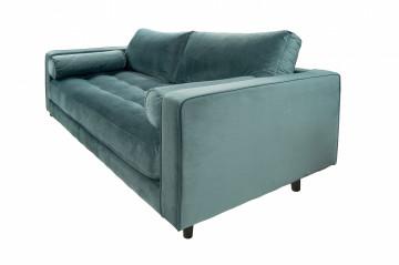 Canapea din catifea Miller, 2 locuri, verde petrol 100x185x84 cm