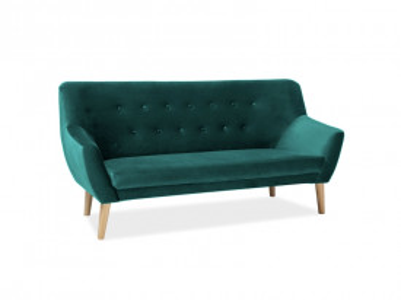 Canapea din catifea Nordic verde, 3 locuri