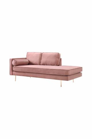 Canapea Estelle roz, 3 locuri, pe stanga