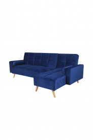 Canapea Maloni extensibila pe dreapta, 3 locuri, albastru
