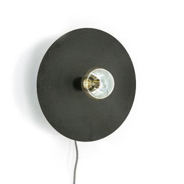 Lampa decorativa / Aplica de perete din fier Horus neagra mica, un bec