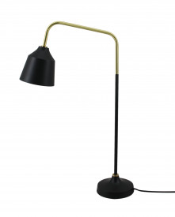 Lampa decorativa din fier/cupru Carisa neagra, un bec