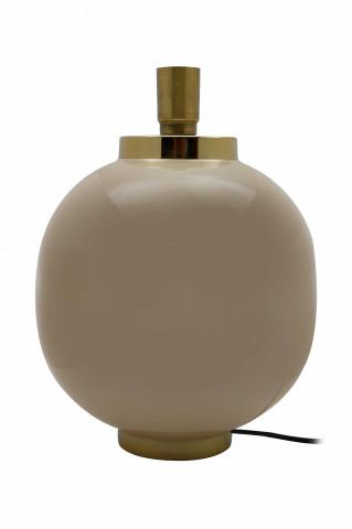 Lampa decorativa din fier, taupe/auriu, un bec 28x28x38,5 cm