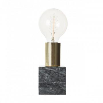 Lampa decorativa din marmura/fier Mr. Lightning neagra, un bec