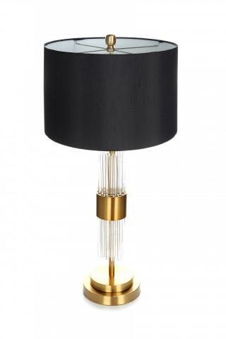 Lampa decorativa din metal/sticla Plasma neagra/aurie, un bec