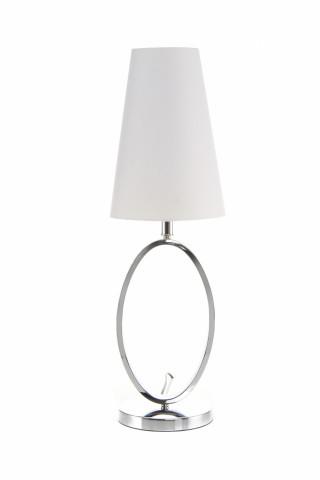 Lampa decorativa din PVC, fier Bounty alba/chrom, un bec