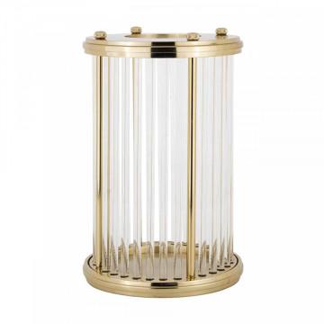 Lampa decorativa mare din aluminiu/sticla Elwyn auire, un bec