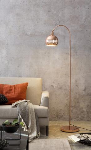 Lampadar din metal 153 cm cupru, 1 bec